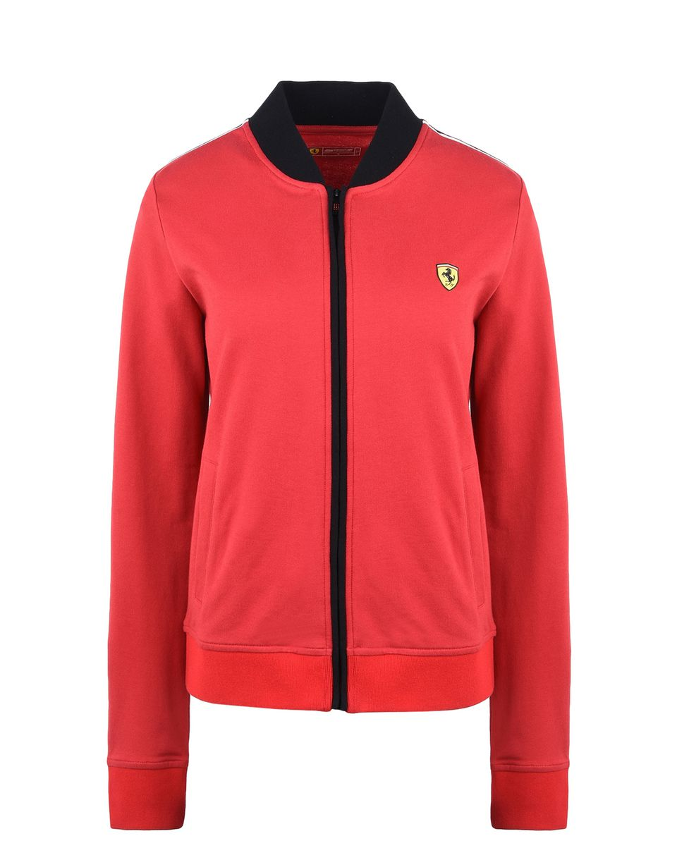 Scuderia Ferrari Online Store - Scuderia Ferrari sweatshirt with Shield on the breast - Zip Jumpers