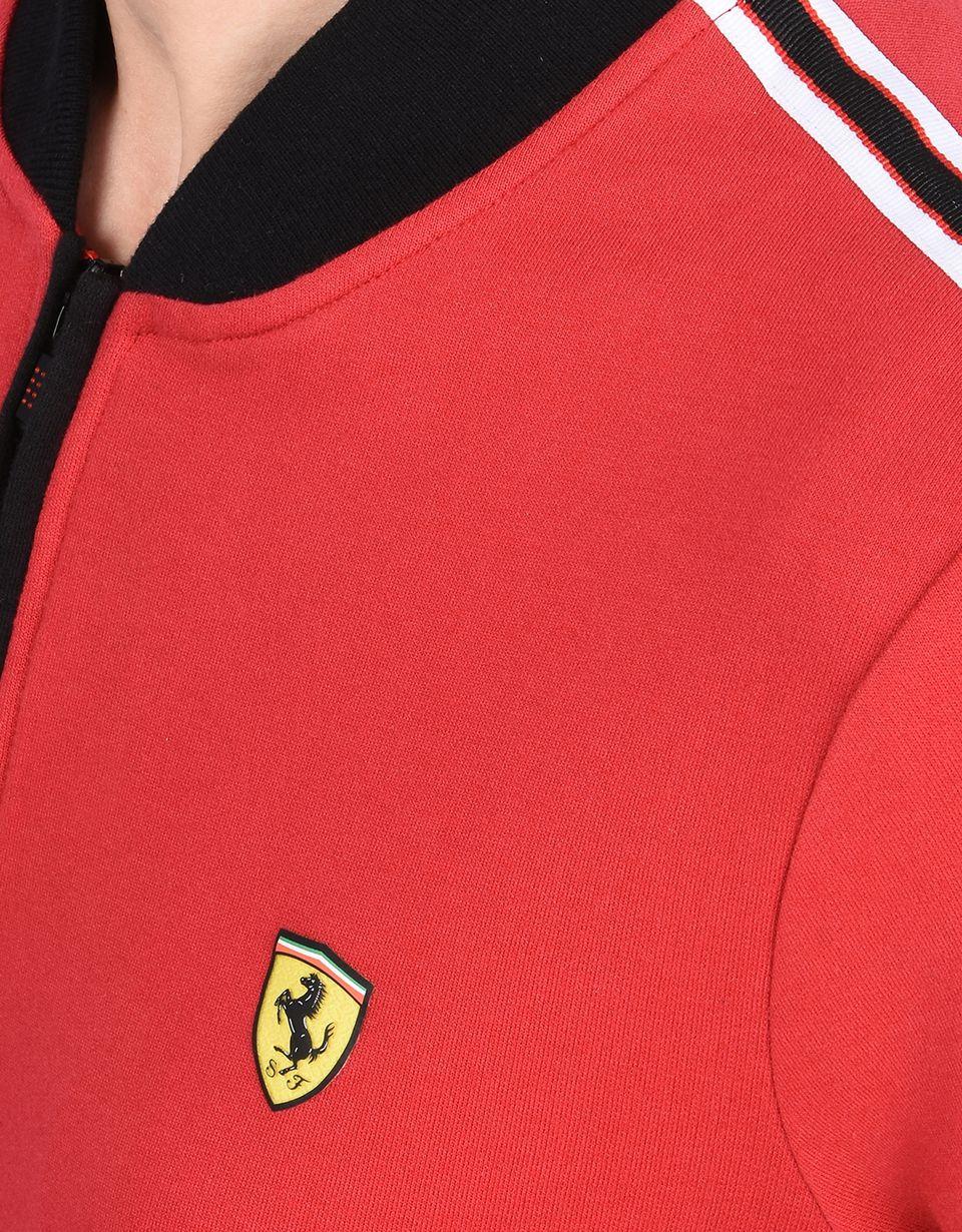 Scuderia Ferrari Online Store - スウェット Scuderia Ferrari 胸元にScudetto Ferrari付き - ファスナー付きスウェット