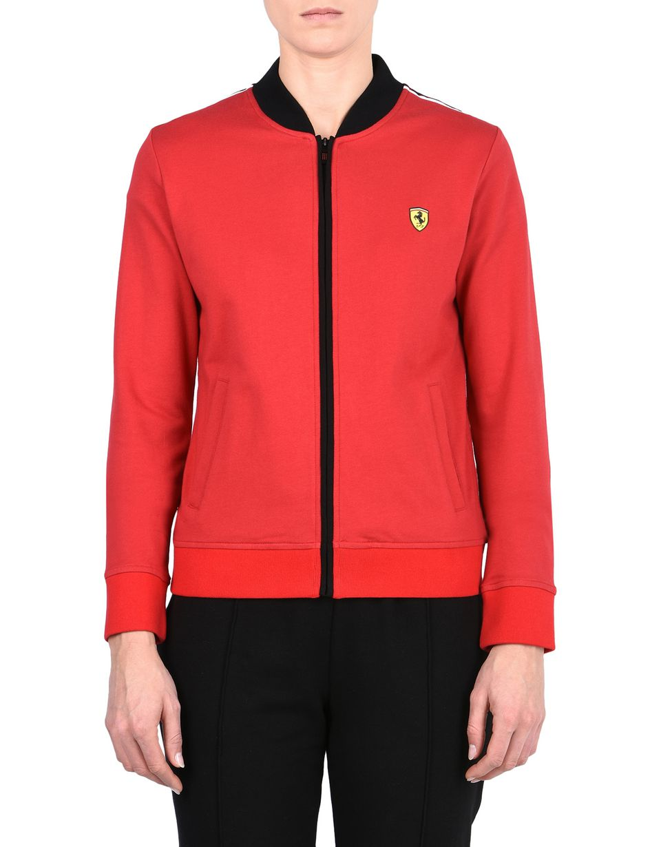 Scuderia Ferrari Online Store - Scuderia Ferrari sweatshirt with Shield on the breast -