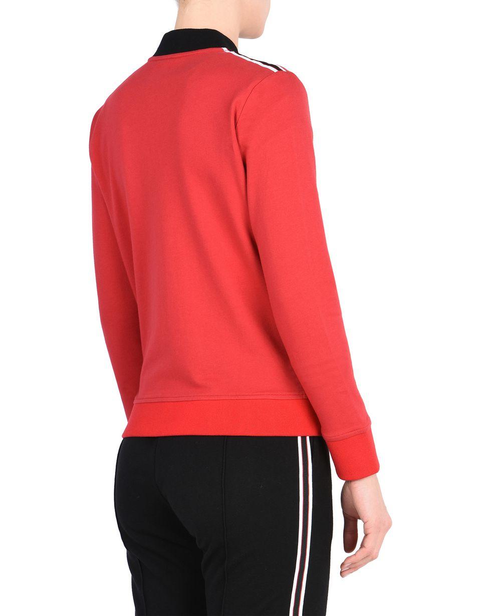 Scuderia Ferrari Online Store - Sweat-shirt Scuderia Ferrari avec Scudetto au niveau du cœur - Zip Jumper
