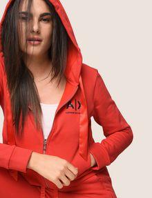 ARMANI EXCHANGE SATIN RIBBON ZIP-UP HOODIE Fleece Jacket Woman a