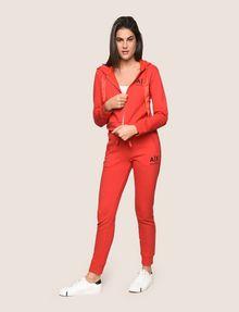 ARMANI EXCHANGE SATIN RIBBON ZIP-UP HOODIE Fleece Jacket Woman d