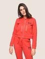 ARMANI EXCHANGE SATIN RIBBON ZIP-UP HOODIE Fleece Jacket Woman f