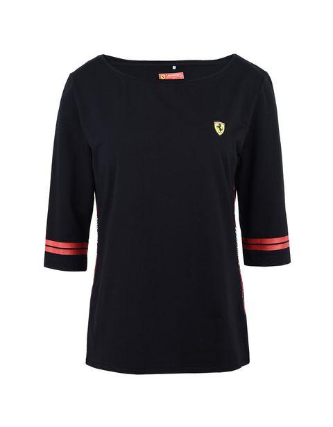Scuderia Ferrari Online Store - Camiseta de mujer de la Scuderia Ferrari con Icon Tape - Camisetas de manga corta
