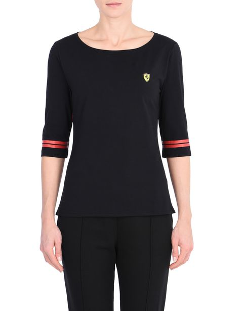 Scuderia Ferrari Damen-T-Shirt mit Icon Tape