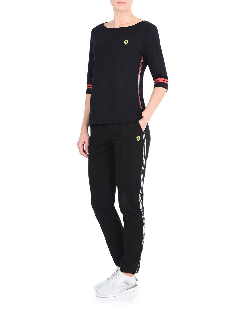 Scuderia Ferrari Online Store - Women's Scuderia Ferrari T-shirt with Icon Tape -