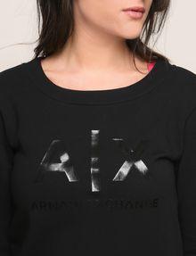 ARMANI EXCHANGE SHINE PRINT SWEATSHIRT TOP Fleece Top Woman b
