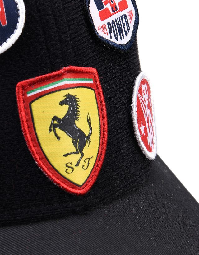 Scuderia Ferrari Online Store - Kid's cap with embroidered Velcro patches -