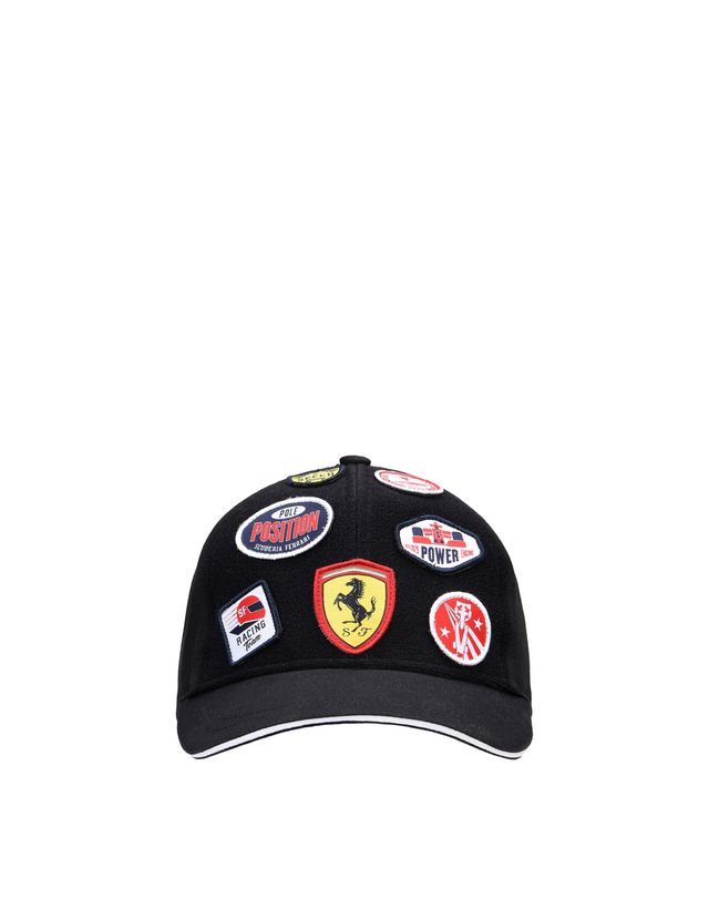 Scuderia Ferrari Online Store - Kid's cap with embroidered Velcro patches - Baseball Caps