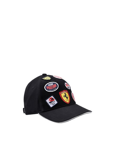 Children's cap with embroidered Velcro patches