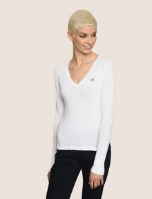 ARMANI EXCHANGE EMOJI LOGO V-NECK SWEATER Pullover Woman f