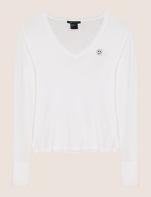 ARMANI EXCHANGE EMOJI LOGO V-NECK SWEATER Pullover Woman r