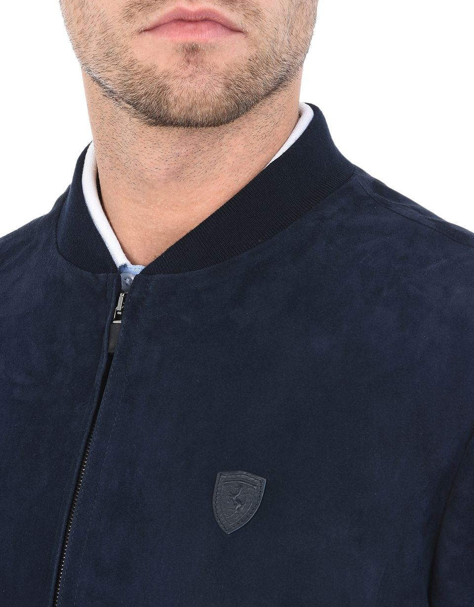 Scuderia Ferrari Online Store - Men's leather bomber jacket -