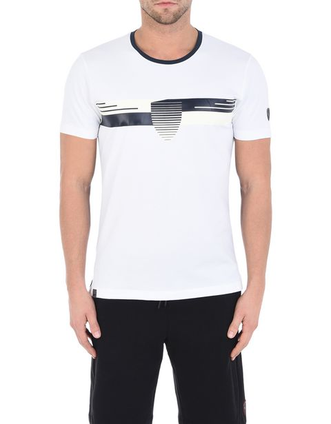 Men's short-sleeve stretch cotton T-shirt