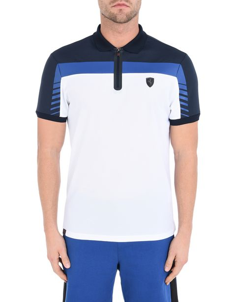 Men's breathable tricolor polo shirt