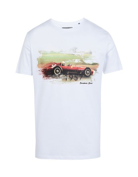Scuderia Ferrari Online Store - Formula 1 crewneck T-shirt with Ferrari print - Short Sleeve T-Shirts