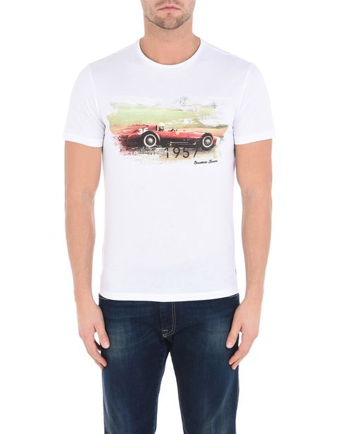 Formula 1 crewneck T-shirt with Ferrari print