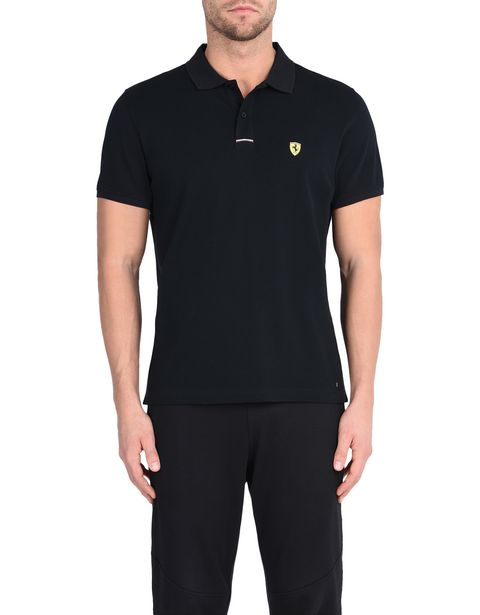 Piqué cotton polo shirt with Shield on the breast