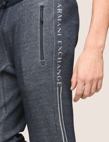 ARMANI EXCHANGE ZWEIFARBIGE SPORTHOSE MIT LOGO Fleece-Hose [*** pickupInStoreShippingNotGuaranteed_info ***] b