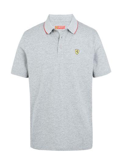 Scuderia Ferrari Online Store - Short-sleeve Scuderia Ferrari polo shirt with Icon Tape - Short Sleeve Polos