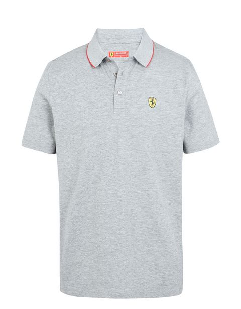 Scuderia Ferrari Online Store - Short-sleeve Scuderia Ferrari polo shirt with Icon Tape -
