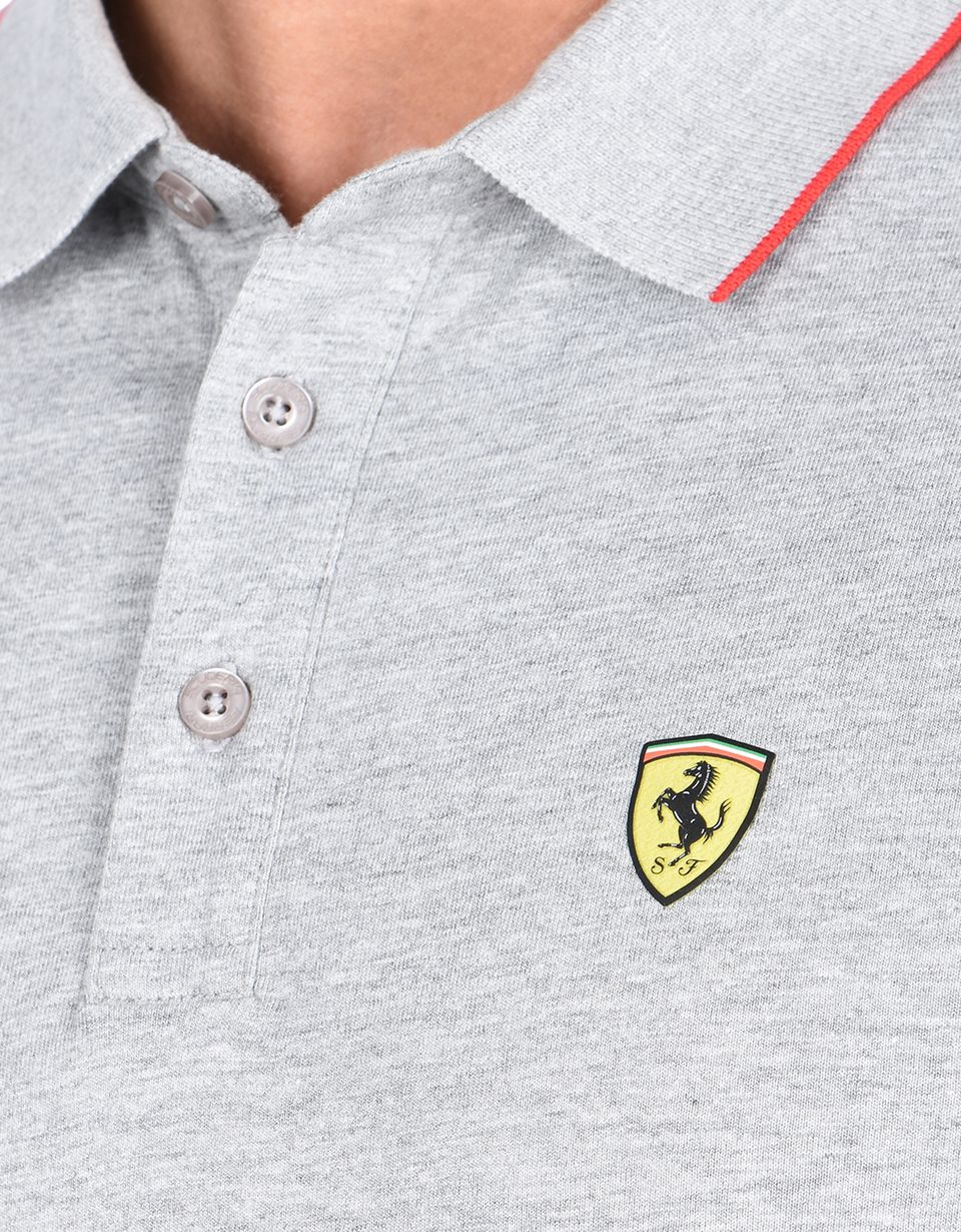 Scuderia Ferrari Online Store - Short-sleeve Scuderia Ferrari polo shirt with Icon Tape - Short Sleeve Polos