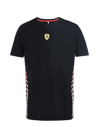 Scuderia Ferrari Online Store - Men's T-shirt with print on the sides - Short Sleeve T-Shirts
