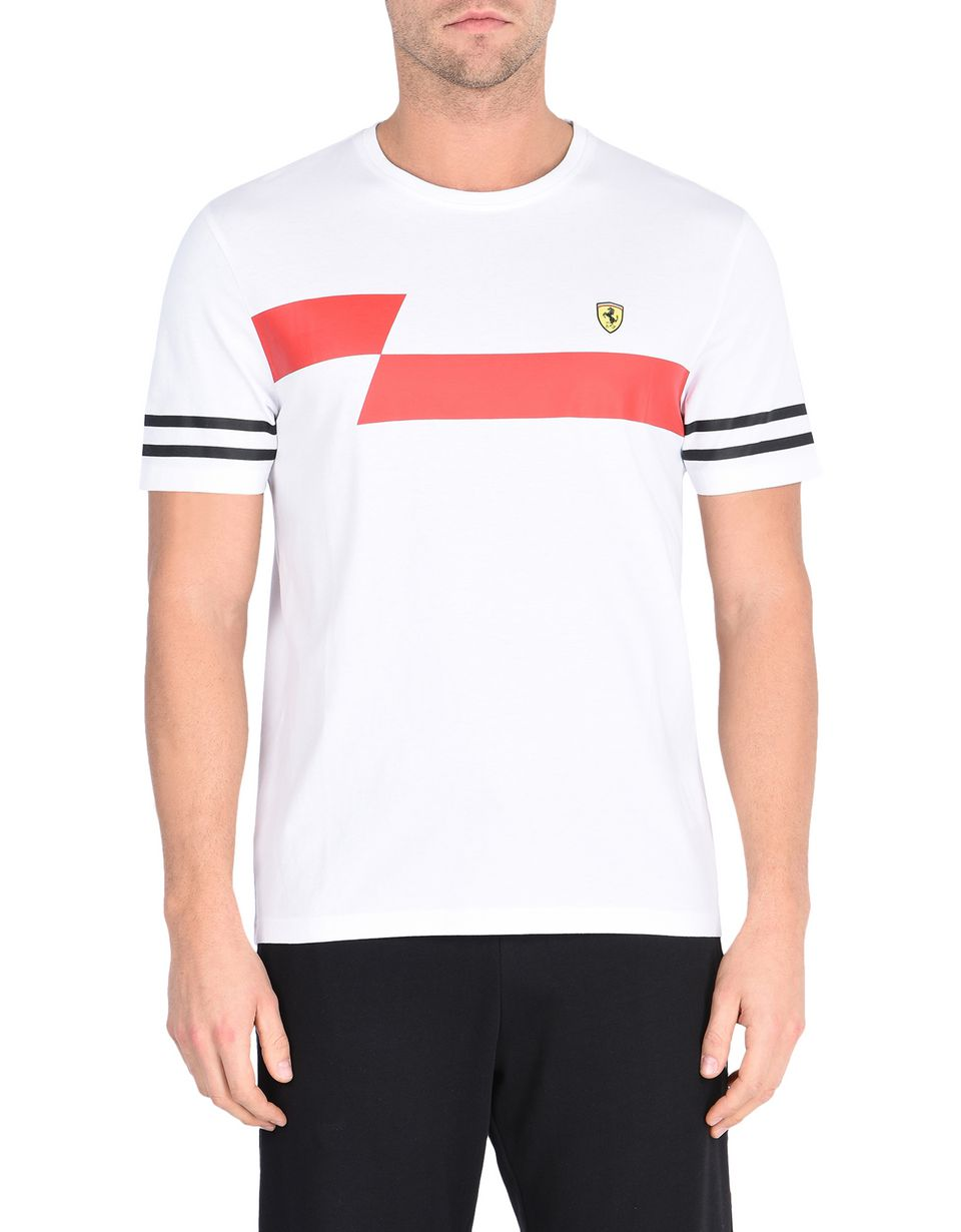 Scuderia Ferrari Online Store - Men's printed cotton T-shirt -