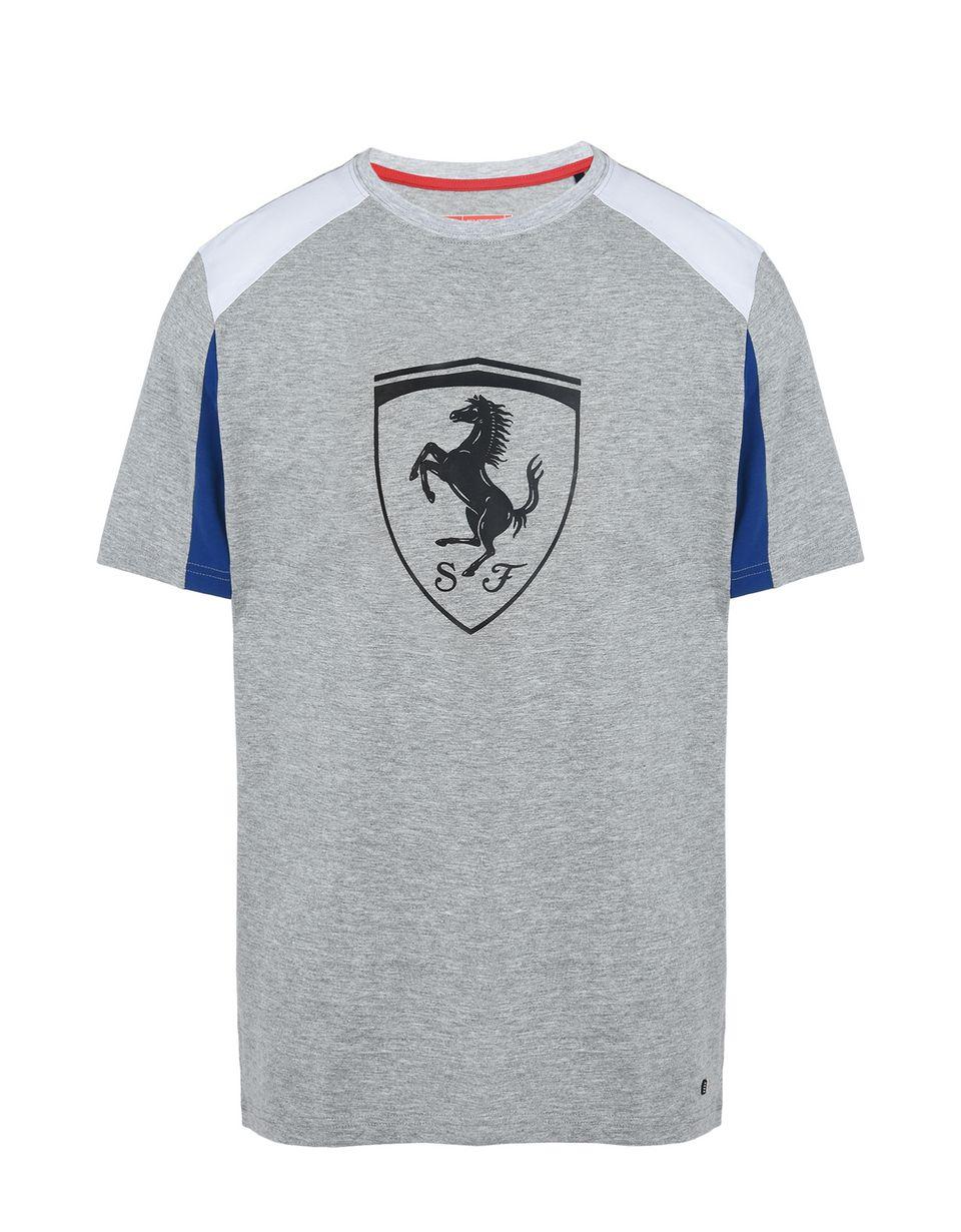 Scuderia Ferrari Online Store - Maglietta maniche corte con Scudetto stampato a rilievo - T-shirt manica corta