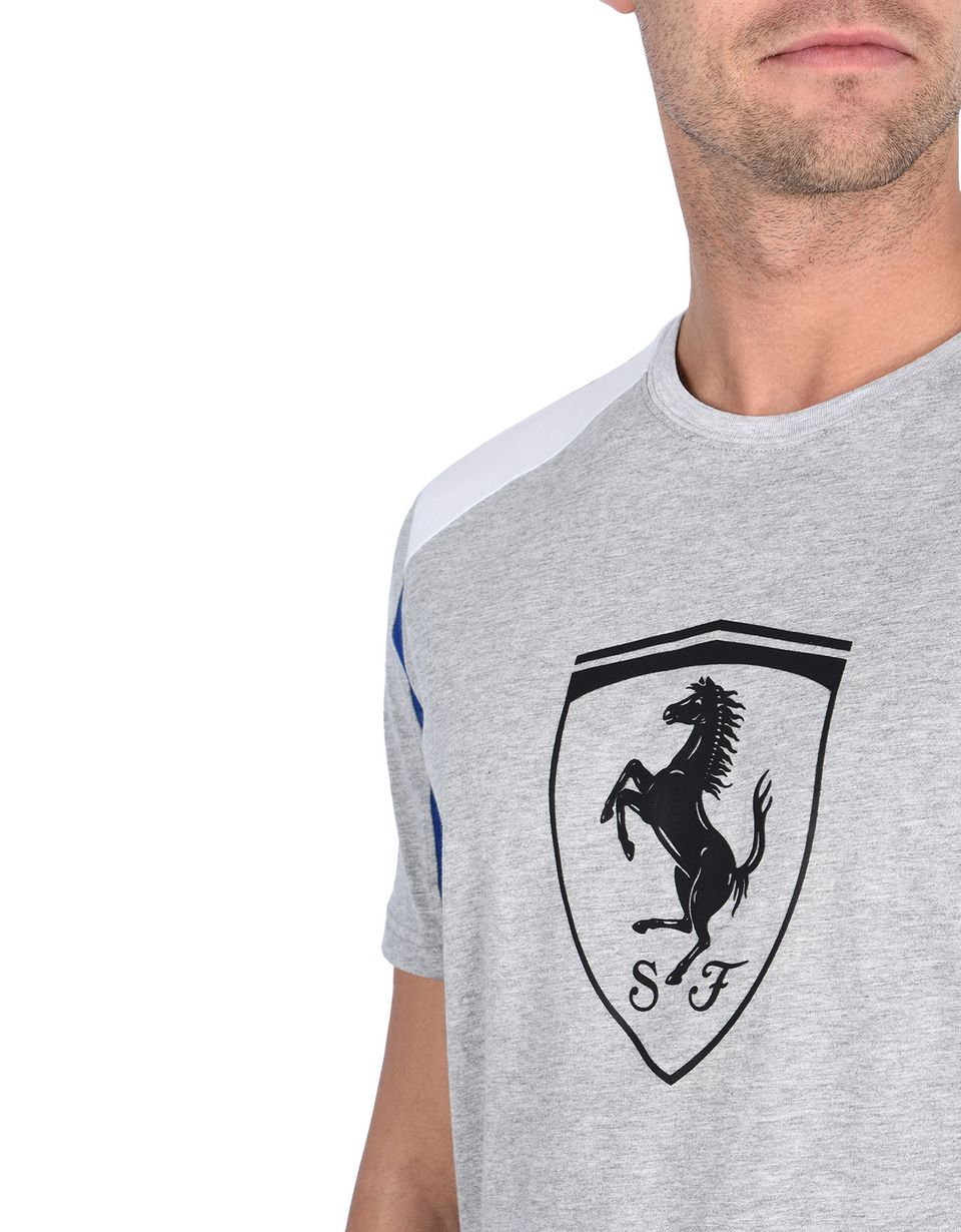 Scuderia Ferrari Online Store - Short-sleeve T-shirt with relief printed Shield - Short Sleeve T-Shirts