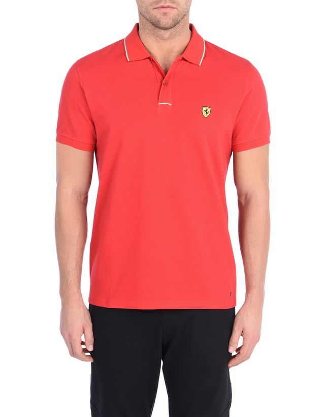 91e179b44c1777 Scuderia Ferrari Online Store - Polo homme en piqué de coton - Polos à  manches courtes ...