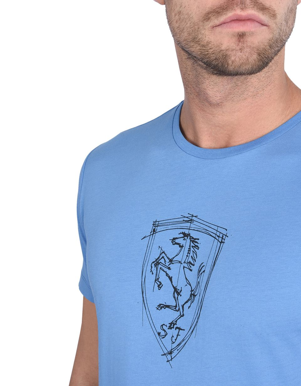 Scuderia Ferrari Online Store - Men's T-shirt with silkscreen print of the Shield -
