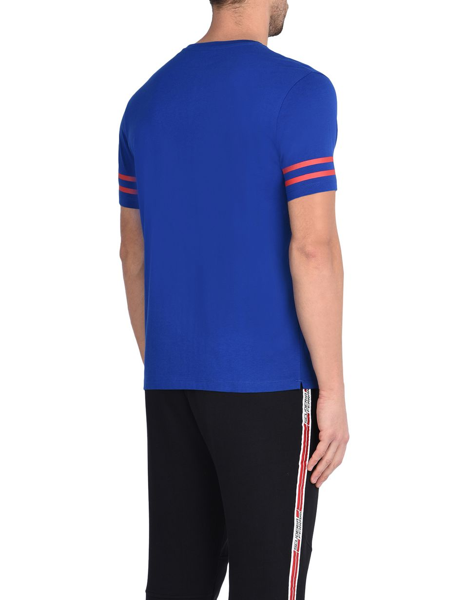 Scuderia Ferrari Online Store - Men's printed cotton T-shirt -