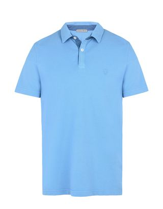 Scuderia Ferrari Online Store - Men's short-sleeve polo shirt with gabardine collar -