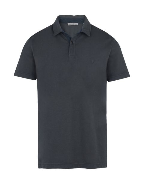 Scuderia Ferrari Online Store - Men's short-sleeve polo shirt with gabardine collar - Short Sleeve Polos