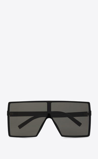 SAINT LAURENT NEW WAVE E new wave 183 betty sunglasses in shiny black acetate with grey nylon lenses   a_V4