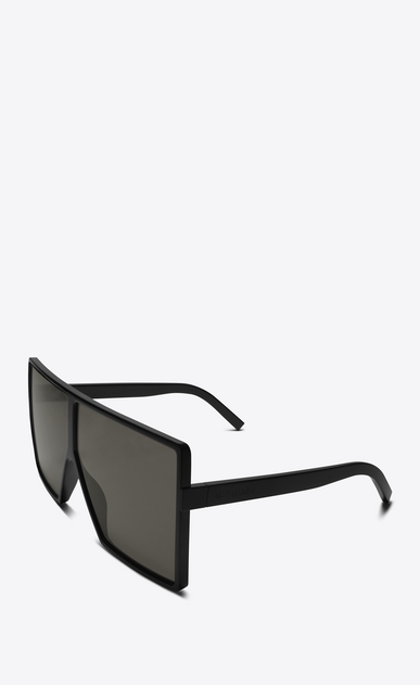 SAINT LAURENT NEW WAVE E new wave 183 betty sunglasses in shiny black acetate with grey nylon lenses   b_V4