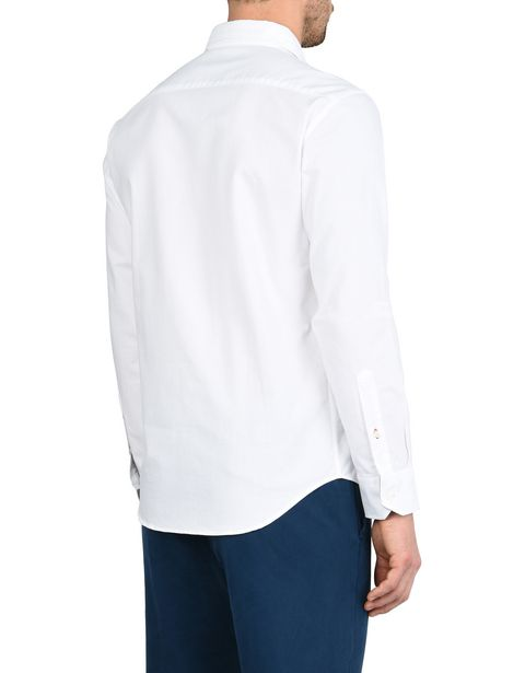 Long-sleeve shirt with French collar