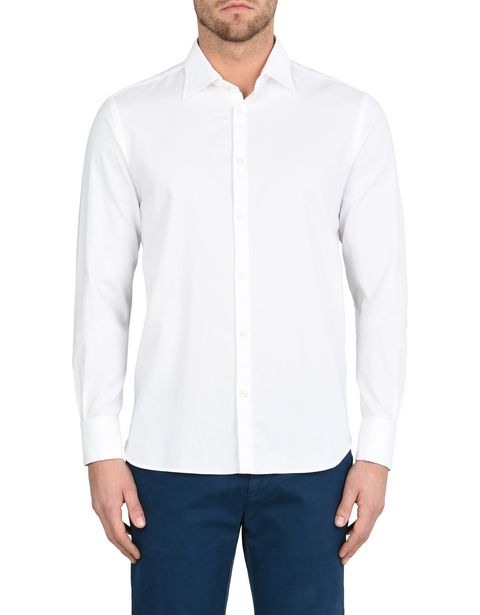 Long-sleeve shirt with Italian collar