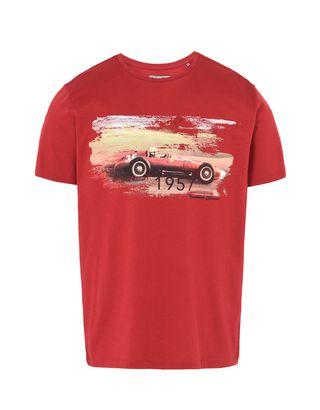 Scuderia Ferrari Online Store - Formula 1 crewneck T-shirt with Ferrari print - Short Sleeve T-Shirts