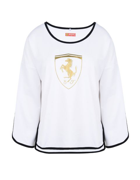Scuderia Ferrari Online Store - 3/4 sleeve T-shirt with Shield - 3/4 T-Shirts