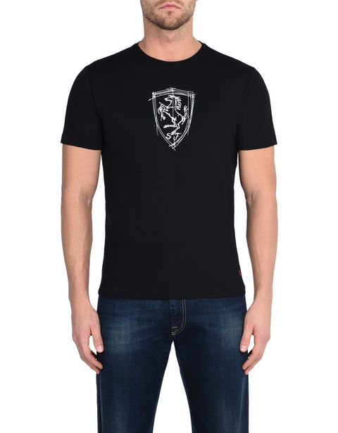 Men's T-shirt with silkscreen print of the Shield