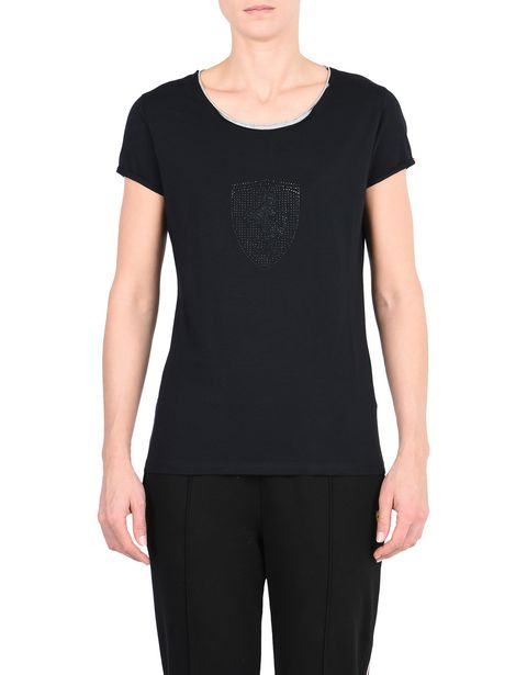 Woman's T-shirt with rhinestone Shield