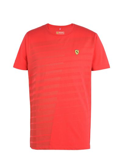 Scuderia Ferrari Online Store - Men's Scuderia Ferrari T-shirt with rubberised print - Short Sleeve T-Shirts