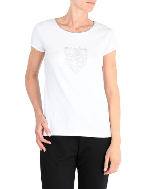 T-shirt donna con Scudetto in strass