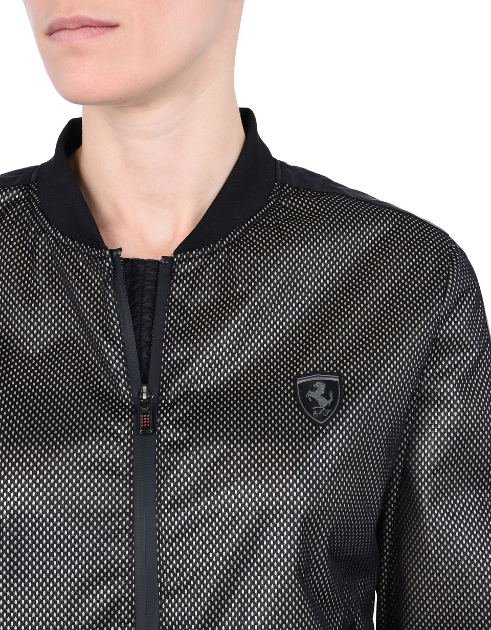 Scuderia Ferrari Online Store - Women's waterproof jacket with Shield on the breast - Bombers & Track Jackets