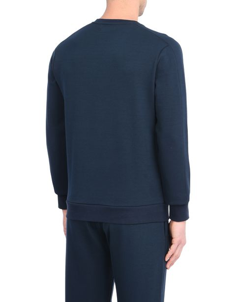 Crewneck sweatshirt in technical cotton fabric
