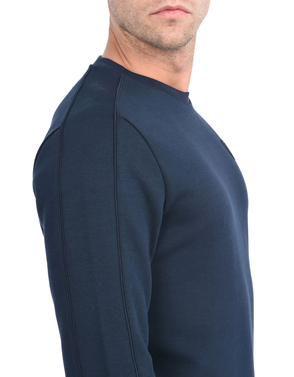Scuderia Ferrari Online Store - Sudadera de cuello redondo de algodón técnico - Jerséis C