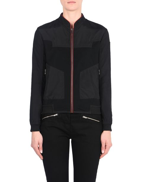 Women's nylon bomber jacket