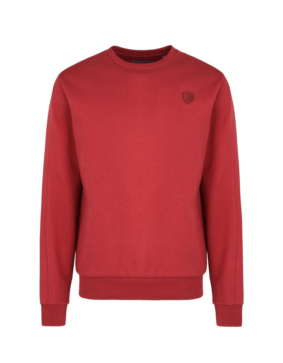 Scuderia Ferrari Online Store - Crewneck sweatshirt in technical cotton fabric - Crew Neck Jumpers